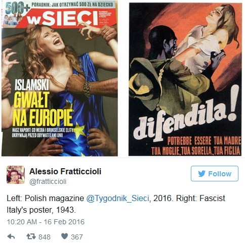 2016 vs 1943 - Far Right Propaganda