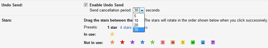 How to set up Undo Send