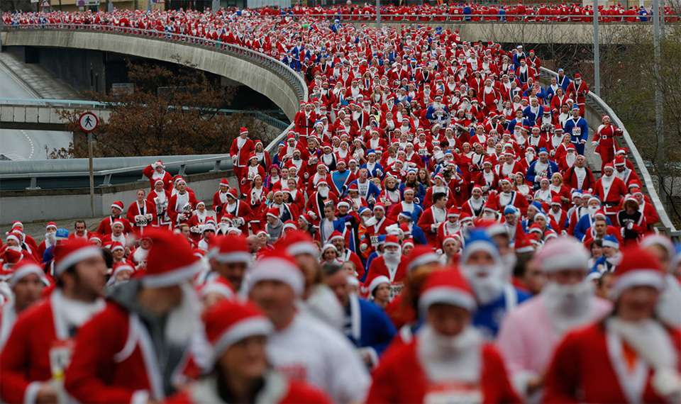 "In a certain Nordic country, Westerner consumers are enjoying the ""Santa run"", a sort of convenient pilgrimage for the religion of capitalism. They will then proceed to throw away these garnments, with little regard to those who made them or the wasted material. So much for Western ""civilization""."