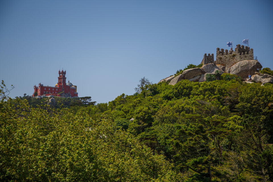 Two of the most visited places in Sintra in the same shot