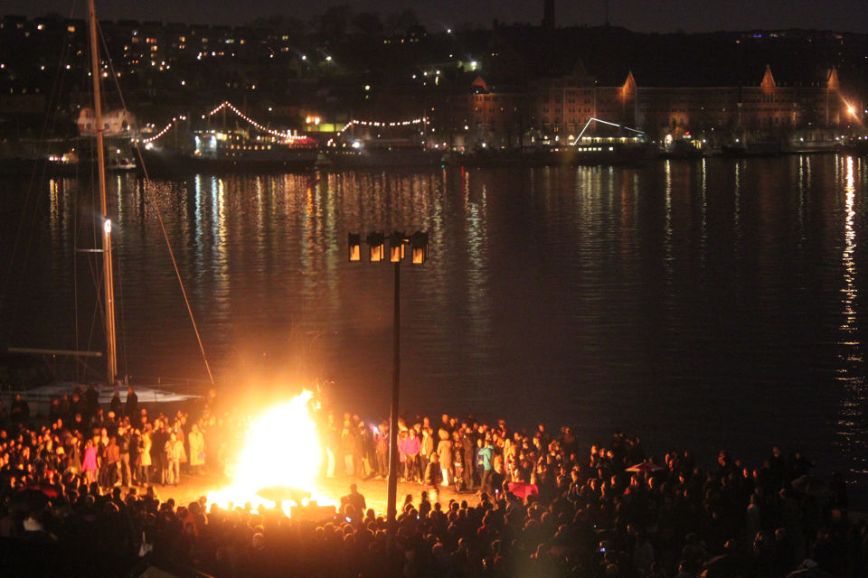 The Valborg bonfire.