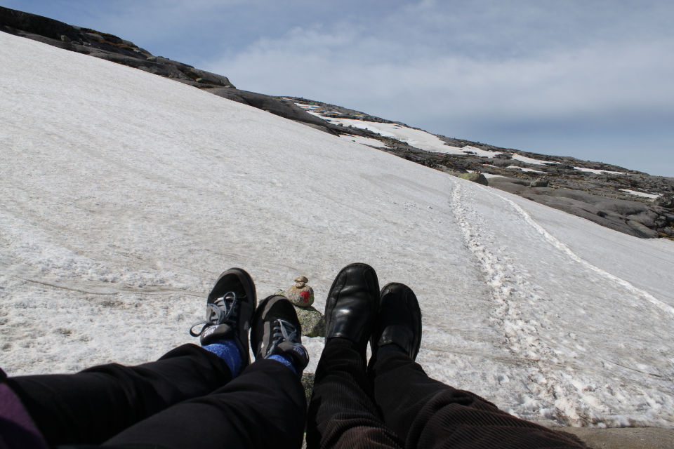Brave shoes, happy feet and satisfied travelers.