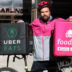 Food Delivery Guy For Uber And Foodora